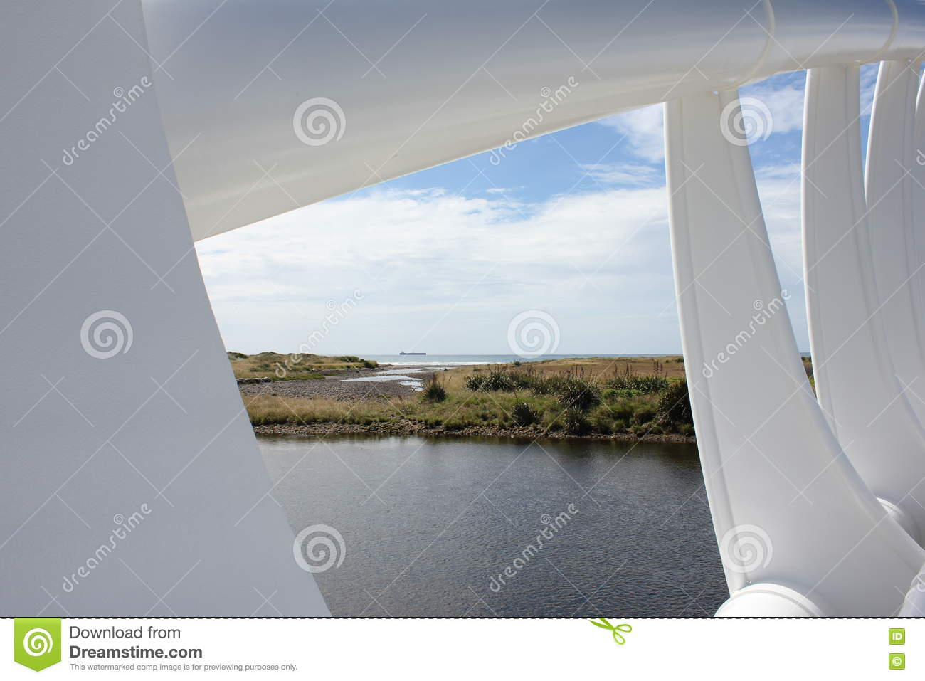 View through the bridge