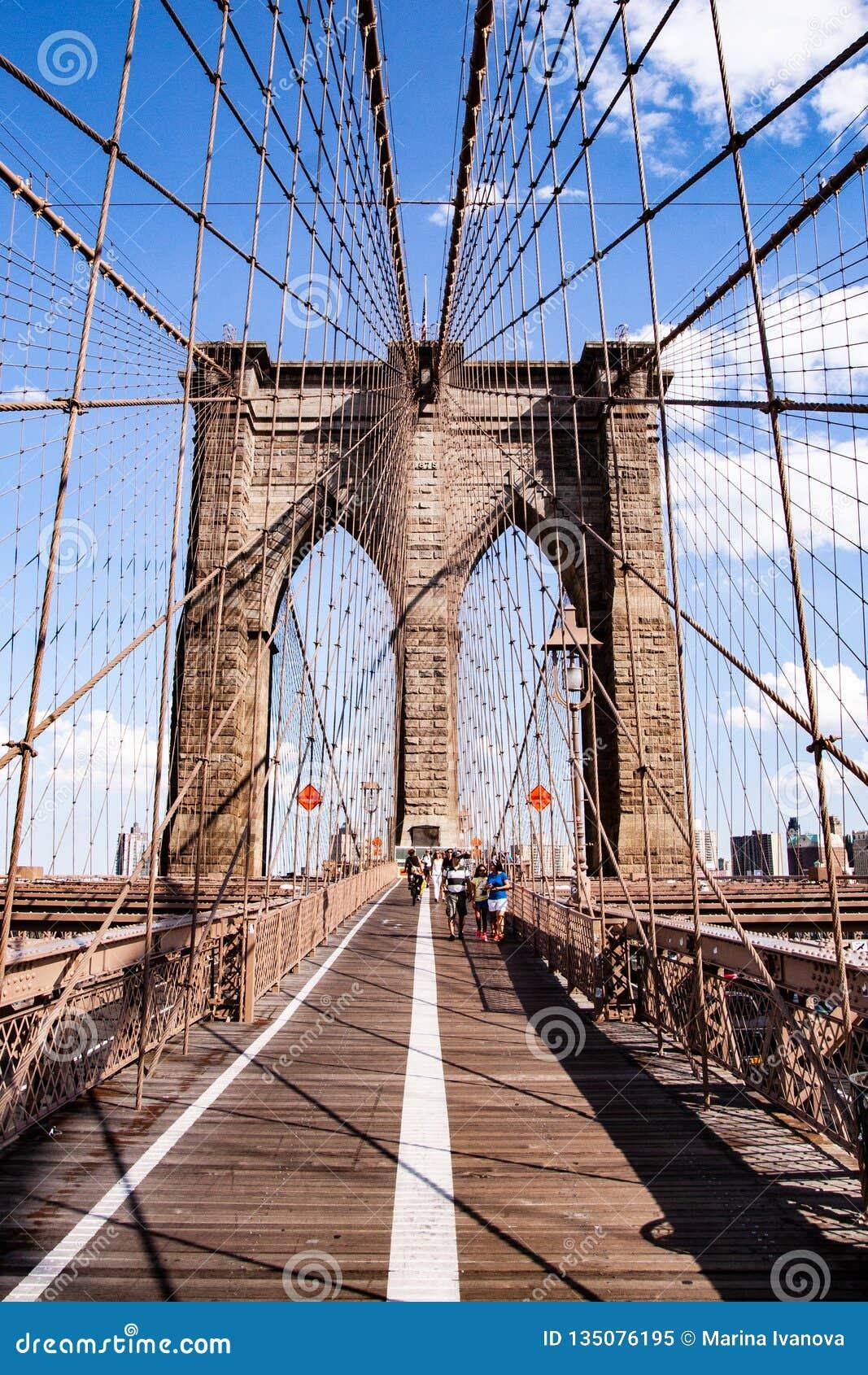 View of the Brooklyn Bridge, NYC, USA