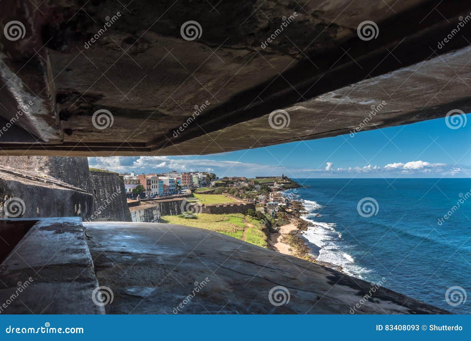 View from a bunker within Castillo de San Cristobal