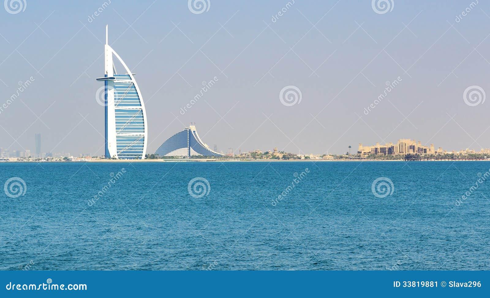 The view on burj al arab hotel editorial photo image for Sail hotel dubai