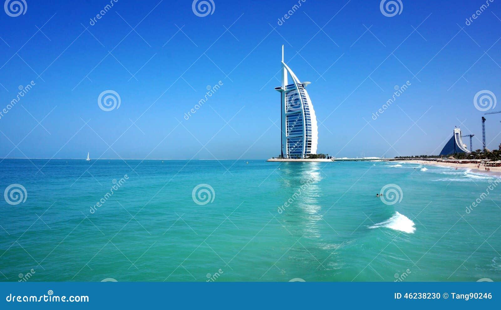 View Of Burj Al Arab Hotel From The Jumeirah Beach