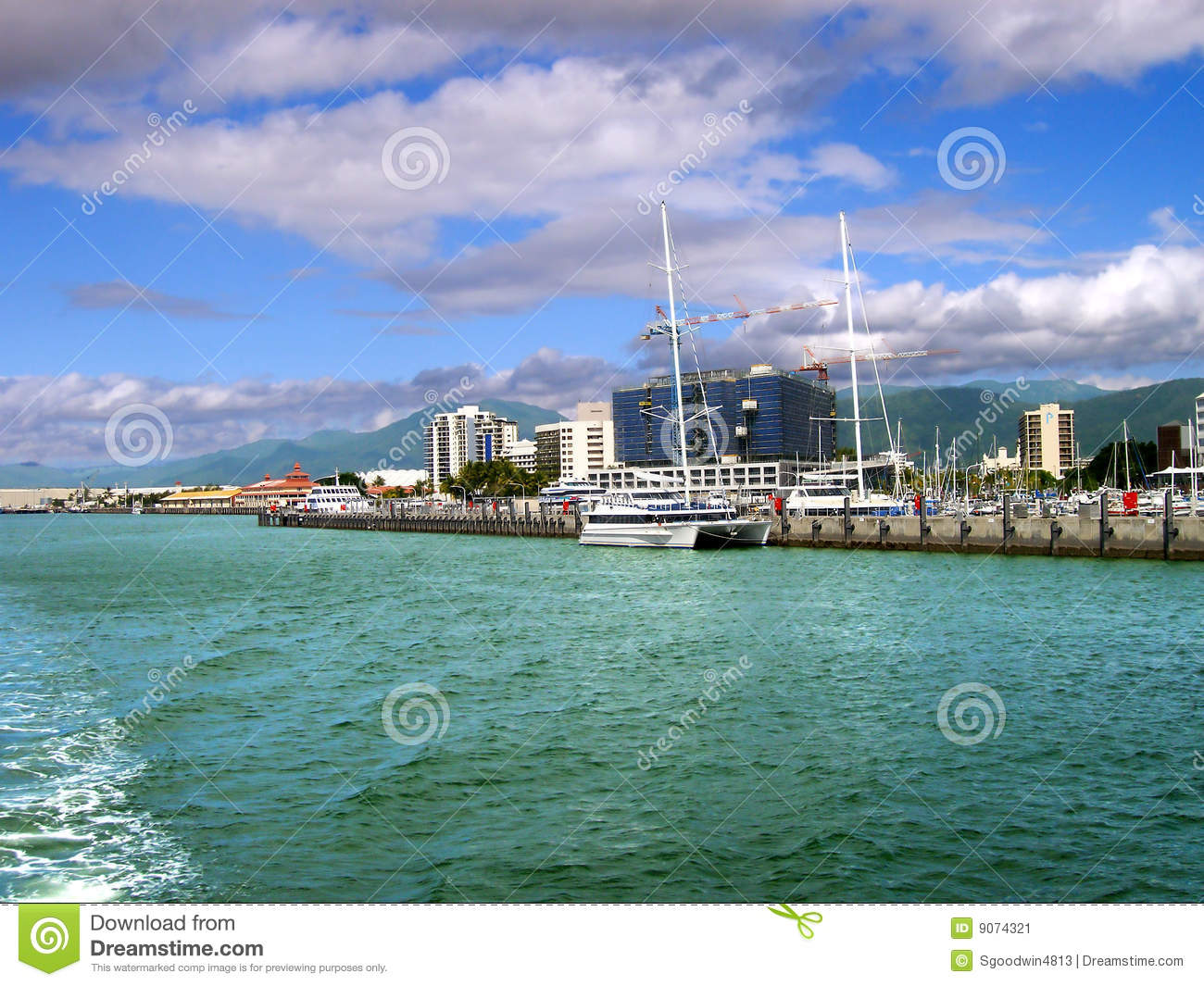 View of Cairns, Australia from the water