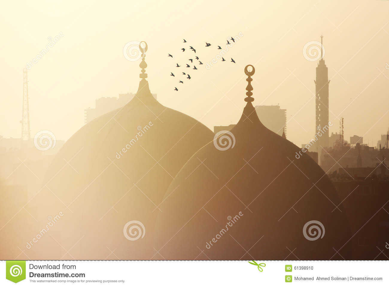 View of islamic cairo in egypt