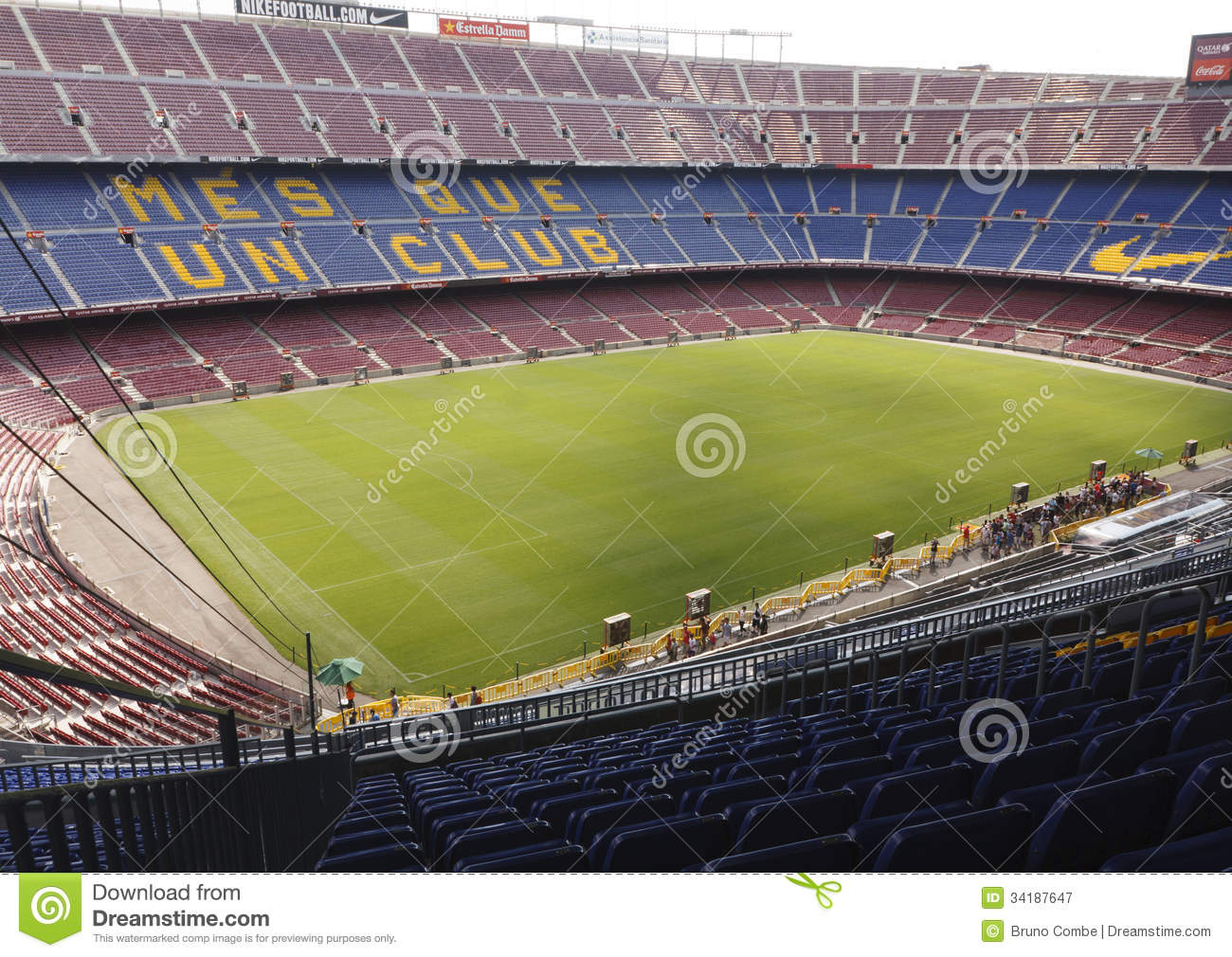 view of camp nou stadium editorial photography