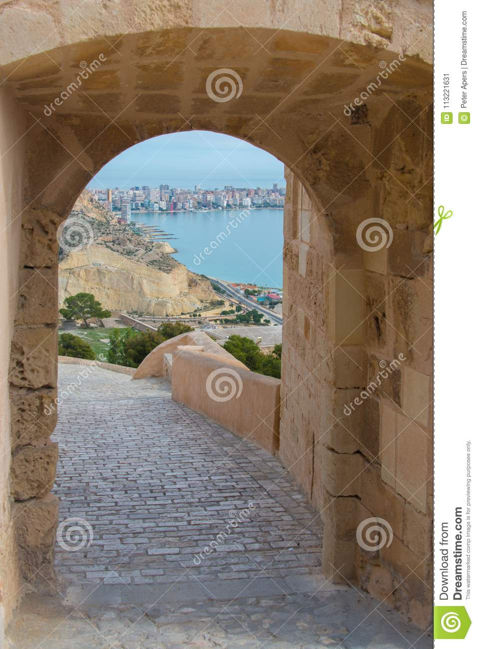 View on Cape de l`Horta in Alicante
