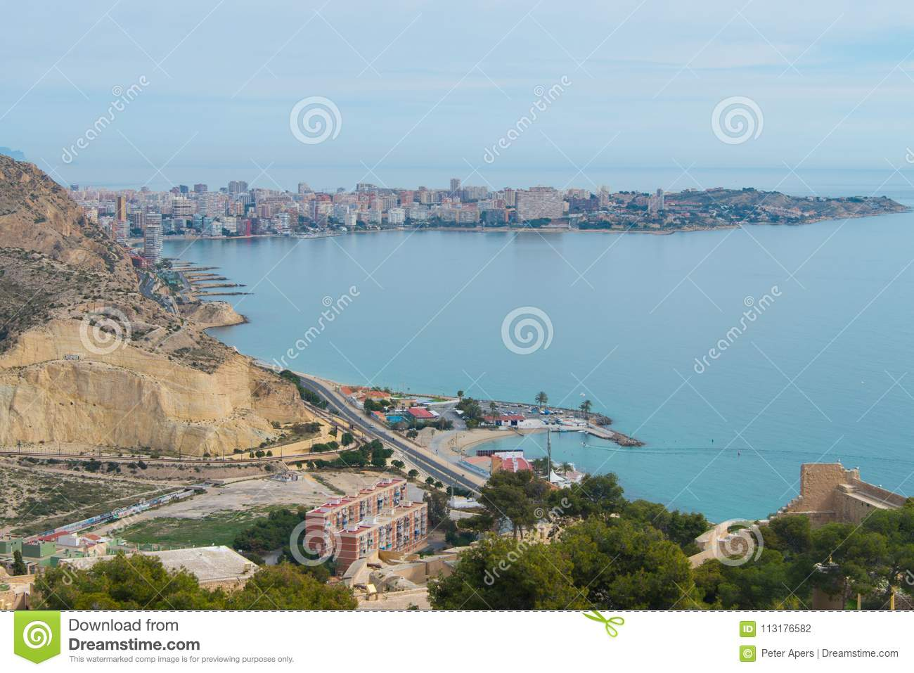 Download View On Cape De L`Horta In Alicante Editorial Photography - Image of buildings, spain: 113176582