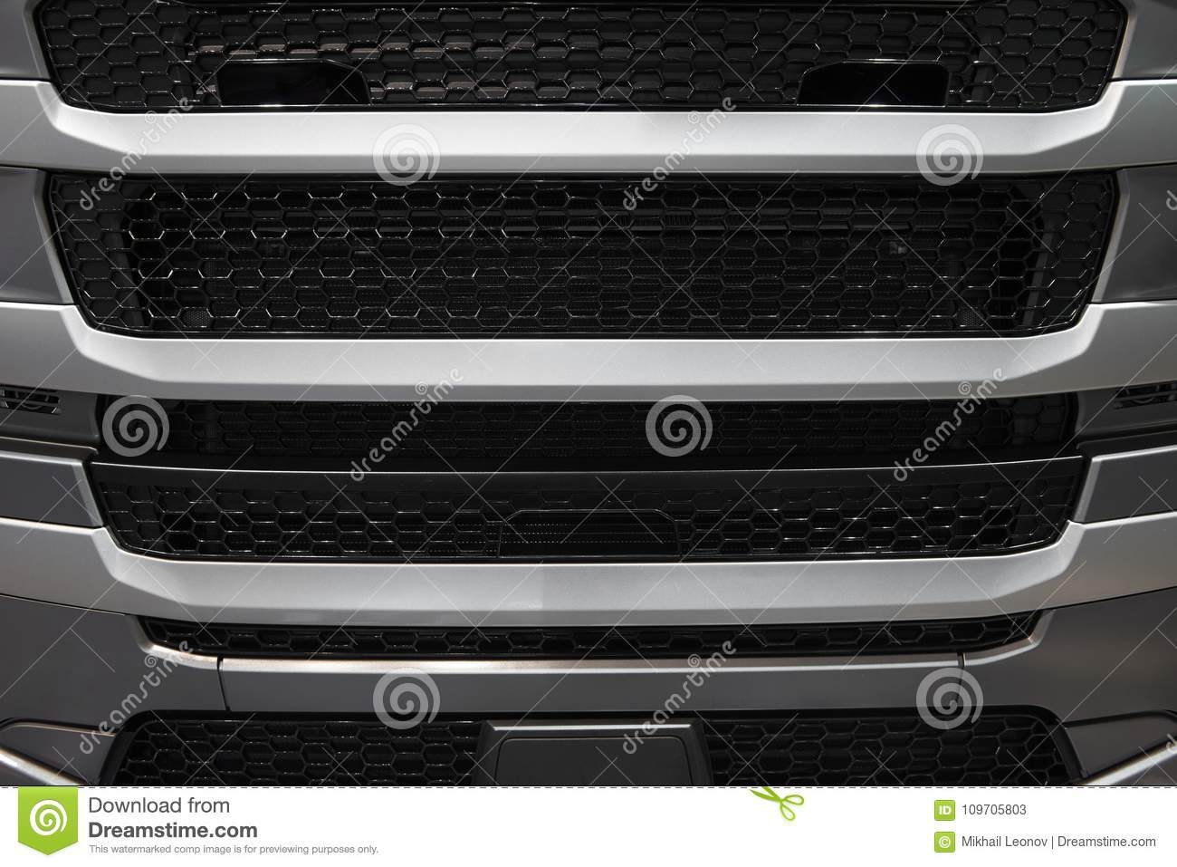 View On Car Truck Cabin Radiator Cover With Grid Grille  Car