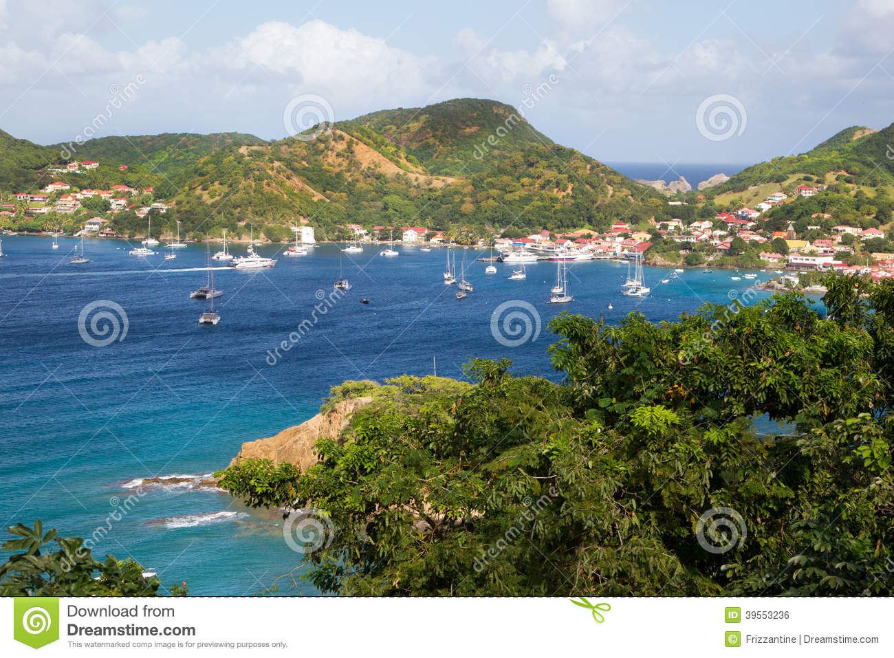 Explore The Beauty Of Caribbean: View At The Caribbean Island Martinique. Stock Photo