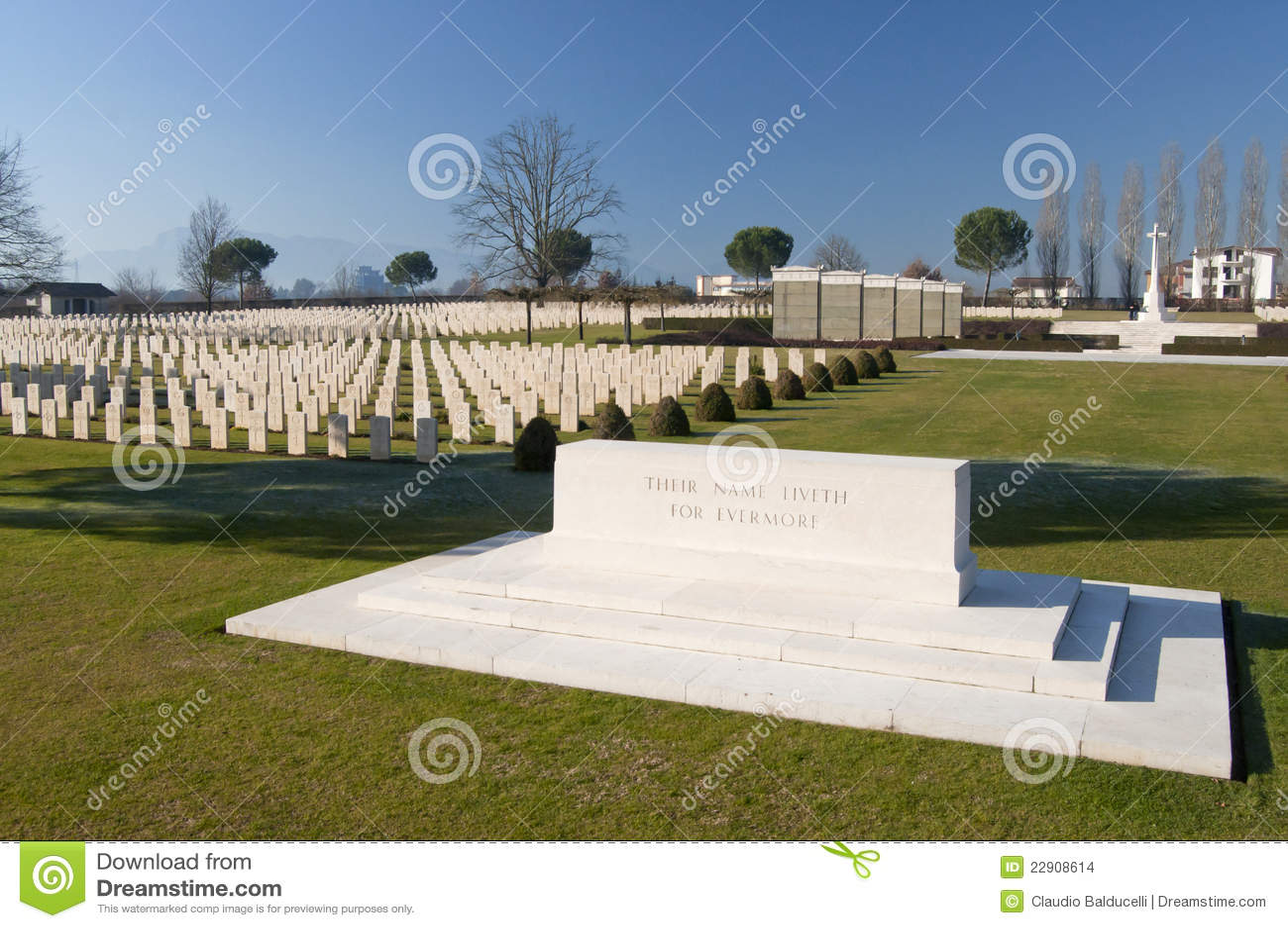 View of Cassino War cemetery