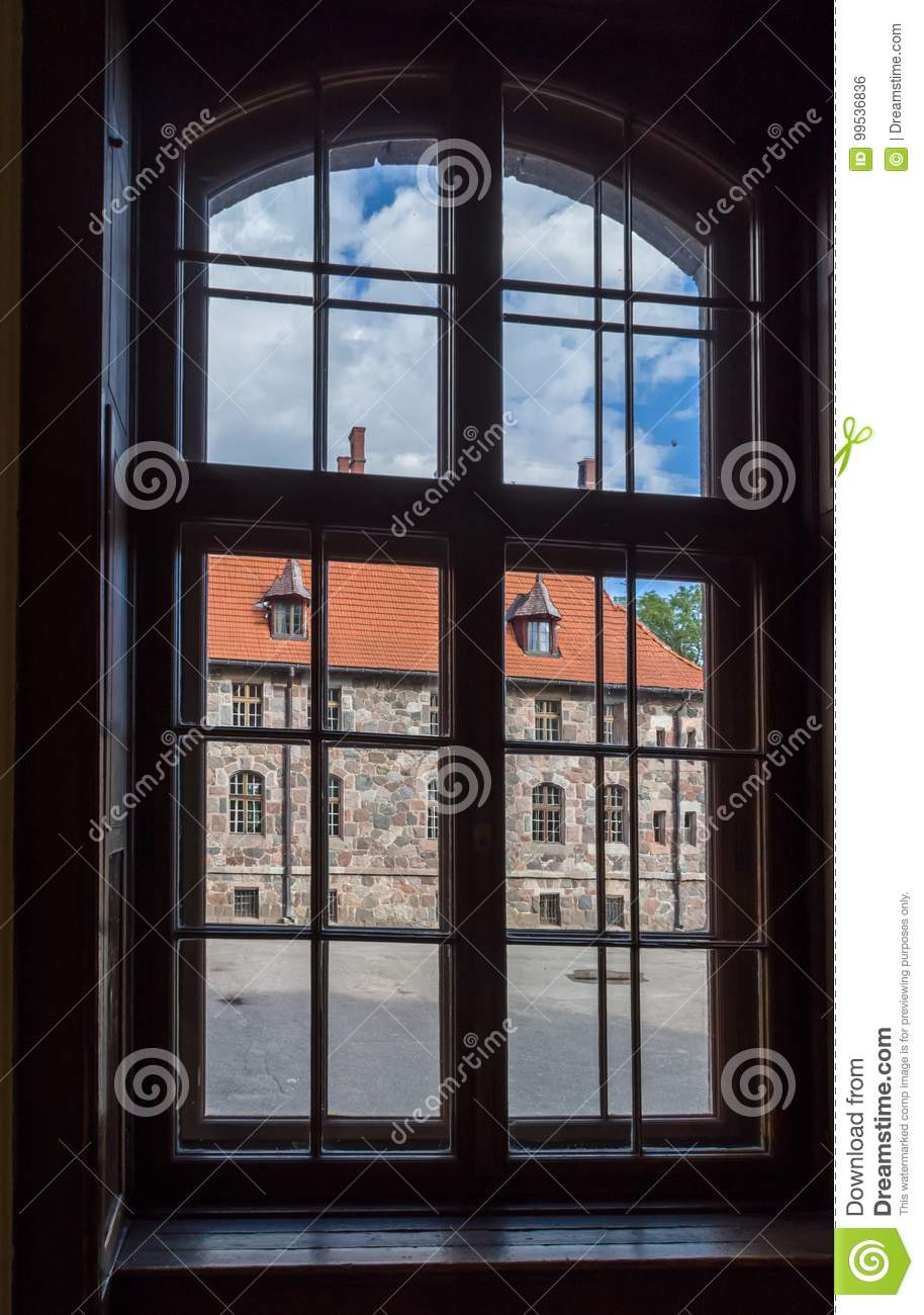 View of castle from window