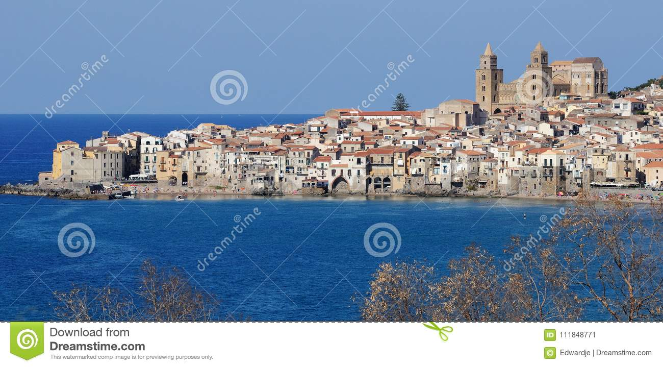 View of Cefalu, Northern Sicily