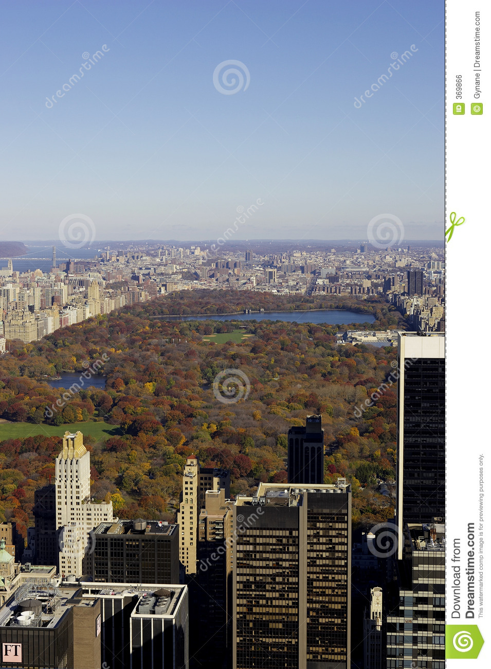 View of central park from the roof of the rockefeller building