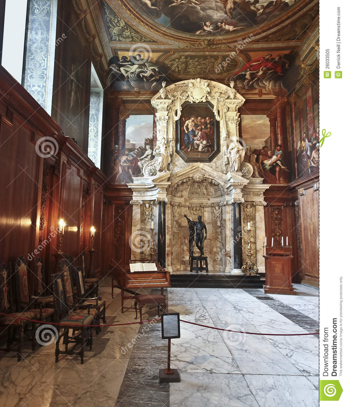 Chatsworth 3 Piece Traditional White Suite: A View Of Chatsworth Chapel, Great Britain Editorial Image