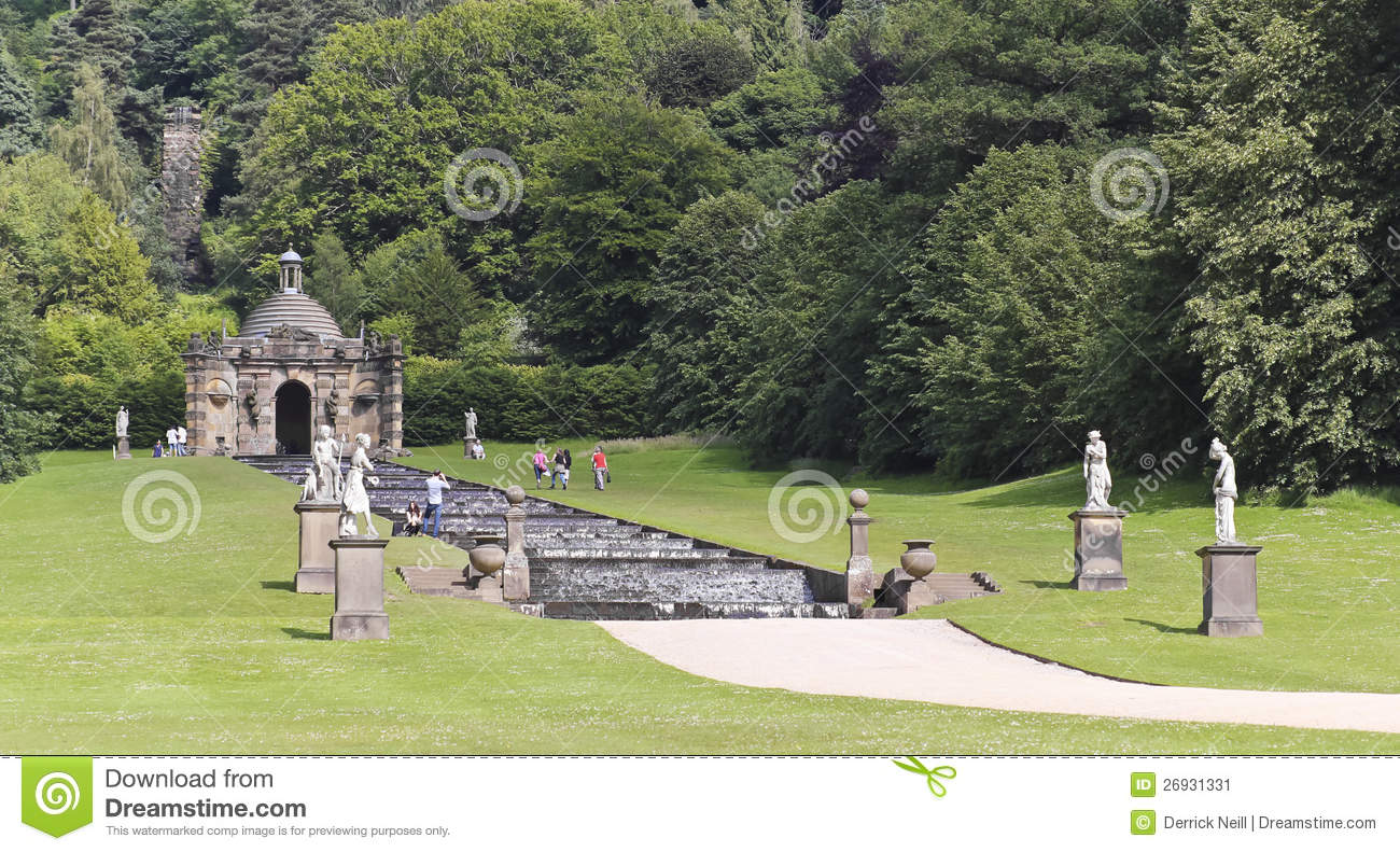 A View Of The Chatsworth House Cascade England Editorial
