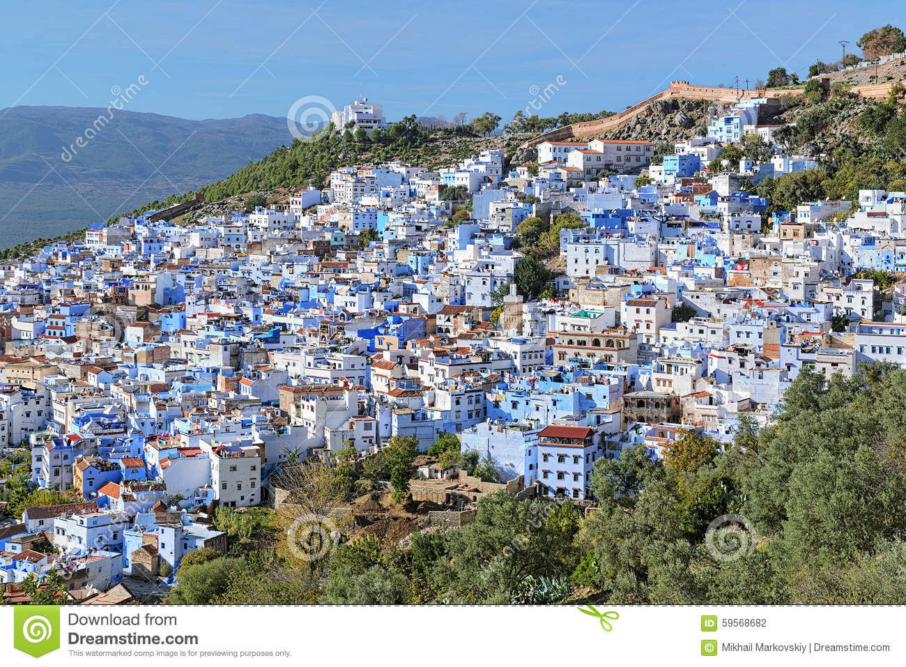 View Of Chefchaouen Morocco Stock Photo Image 59568682