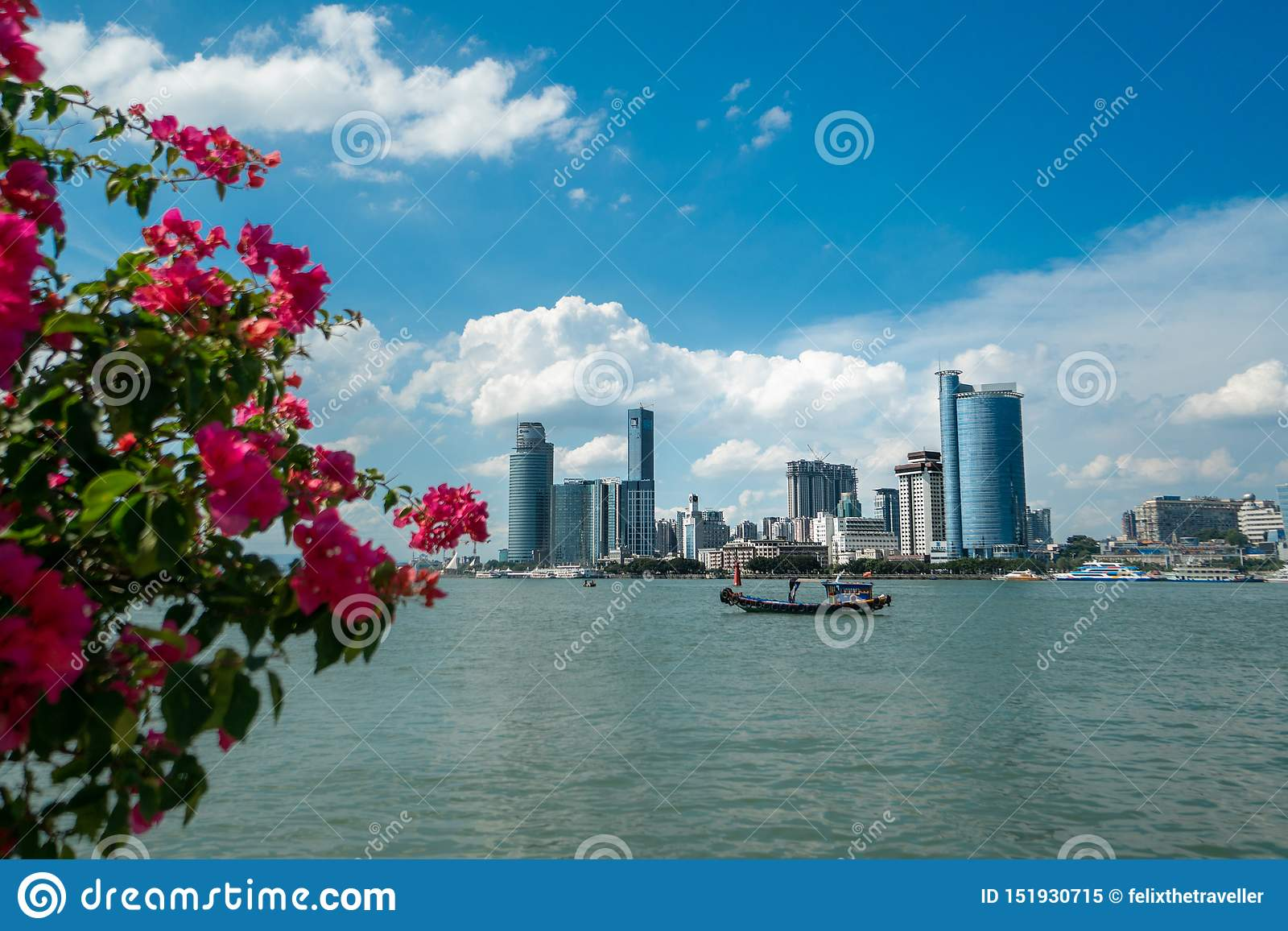 View on the Chinese city of Xiamen