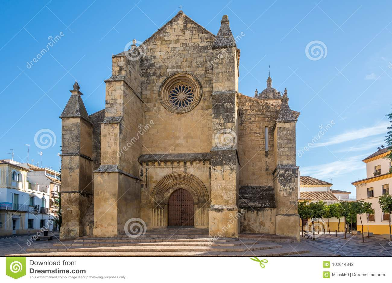 View At The Church Of Santa Marina De Aguas Santas In Cordoba Spain Stock Photo Image Of Andalusia Place 102614842