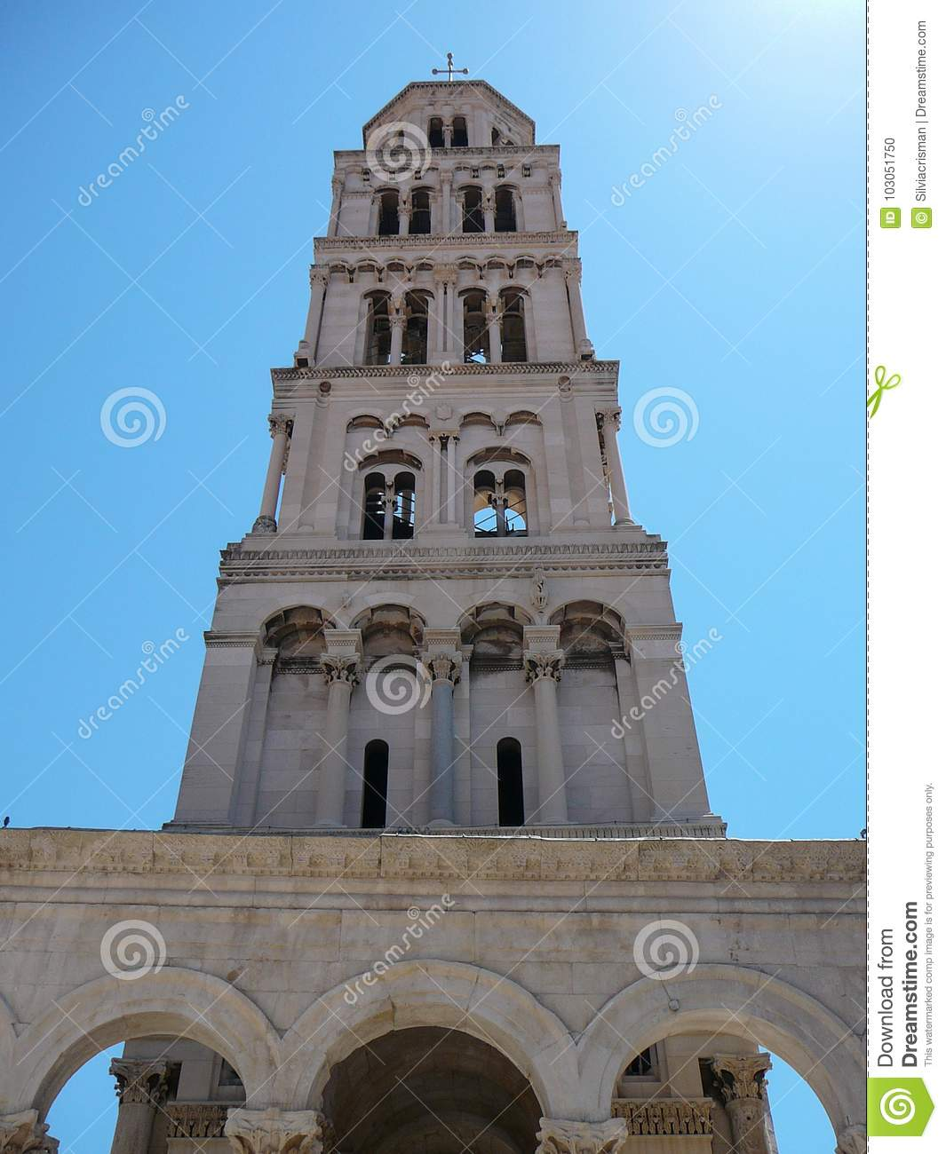 View Of The Church Of Split Stock Photo