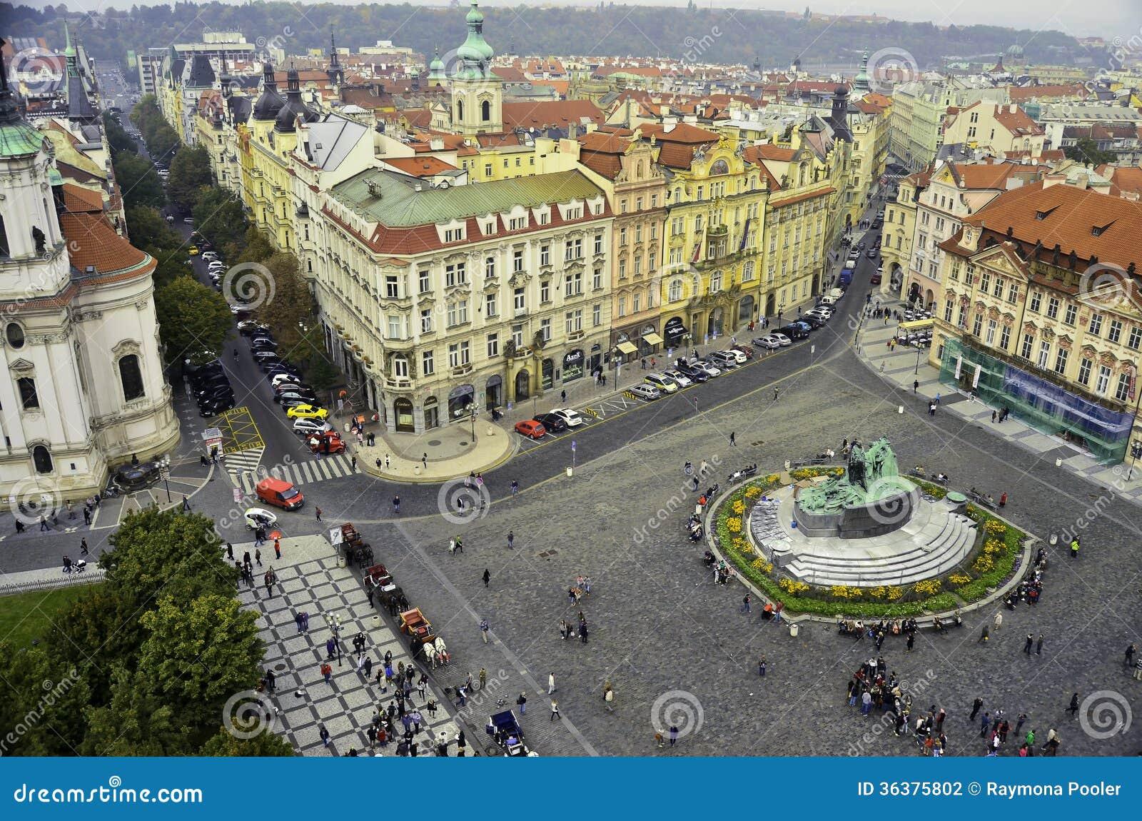 View of the city center of prague editorial photography for Prague center