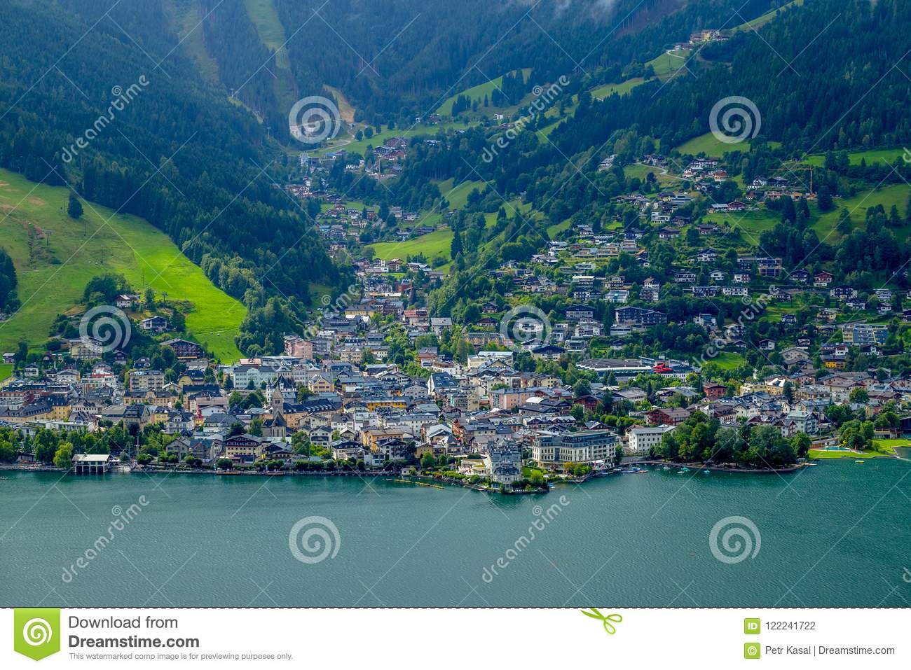 View of the City Center of Zell am See