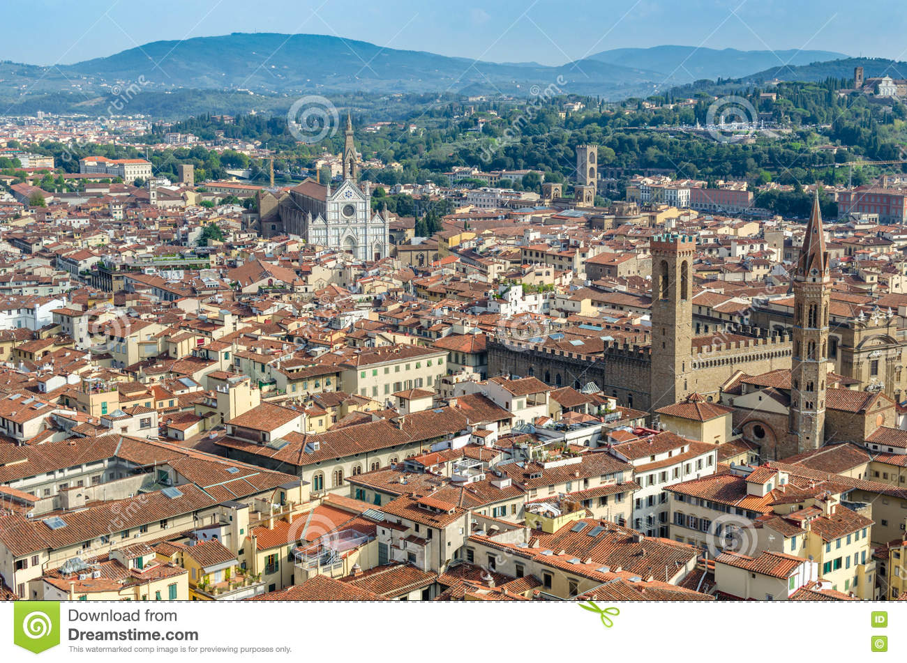 View of the city Florence
