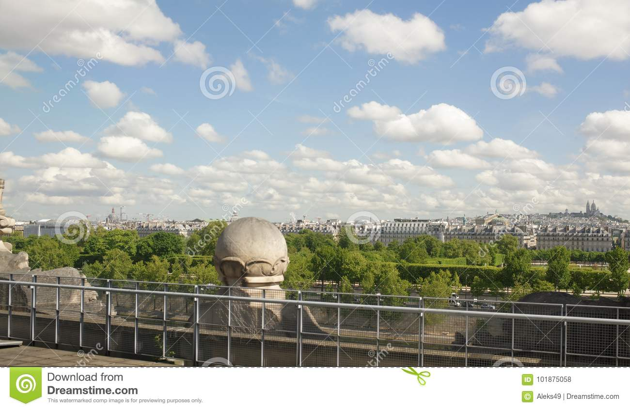 9ba3ce20bc757d Paris  France- May 02  2017  View of the city from the top floor of the  Louvre Museum