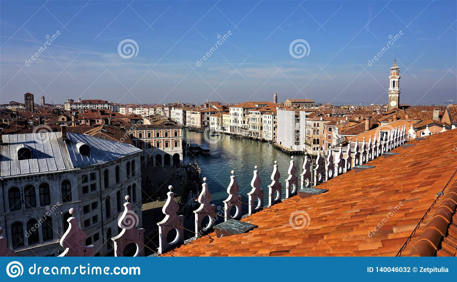 View Of The City Of Venice From The T Fondaco Dei Tedeschi