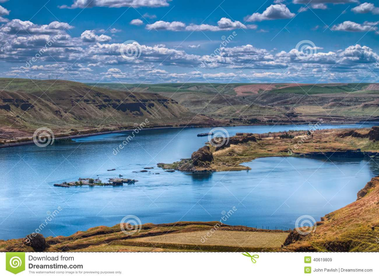 View of the Columbia River stock image  Image of view - 40619809