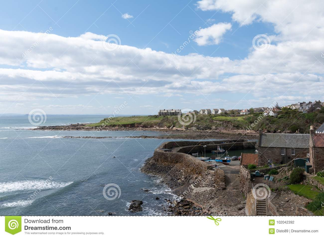 View Of Crail Village In Scotland Stock Photo - Image of travel