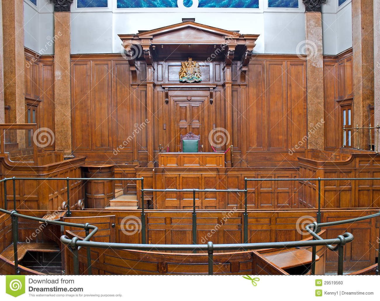 View Of Crown Court Room Inside St Georges Hall, Liverpool ...
