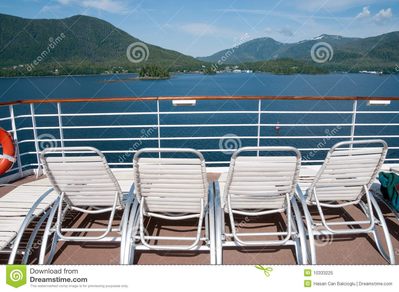 View from cruise ship deck stock image. Image of enjoyment ...