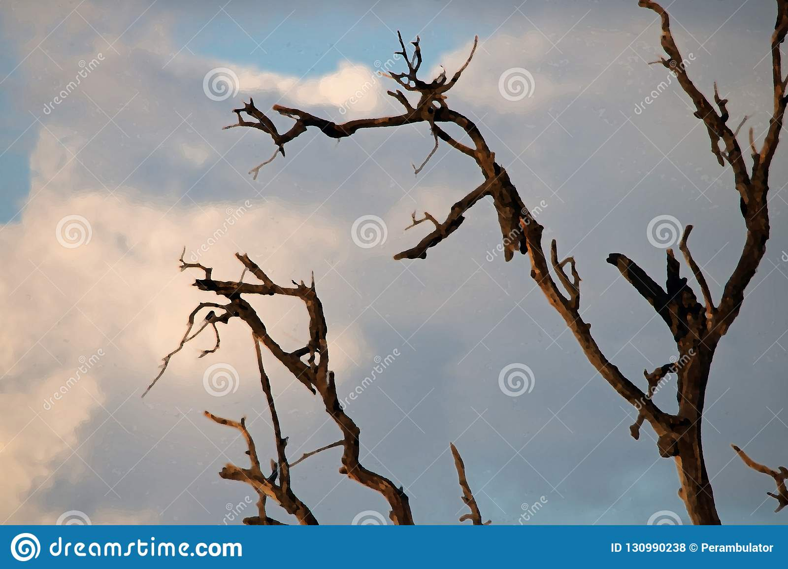 ARTISTIC EFFECT ADDED TO DRY BRANCHES