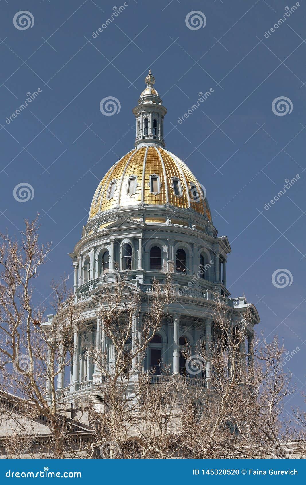View of Denver Colorado Capitol