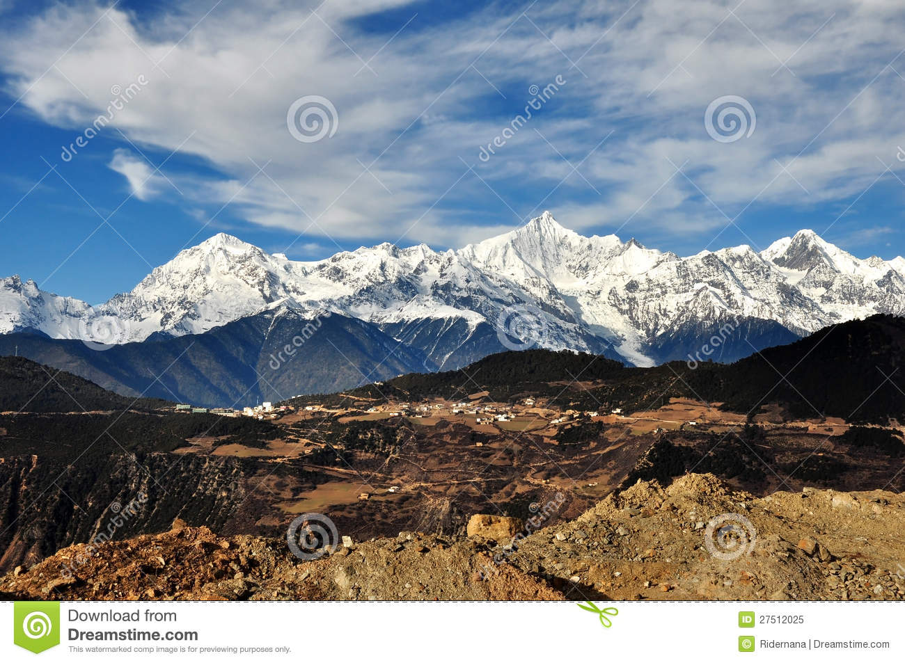 Deqin China  city photos gallery : View Of Deqin Snow Mountain ,yunnan China Royalty Free Stock Photo ...