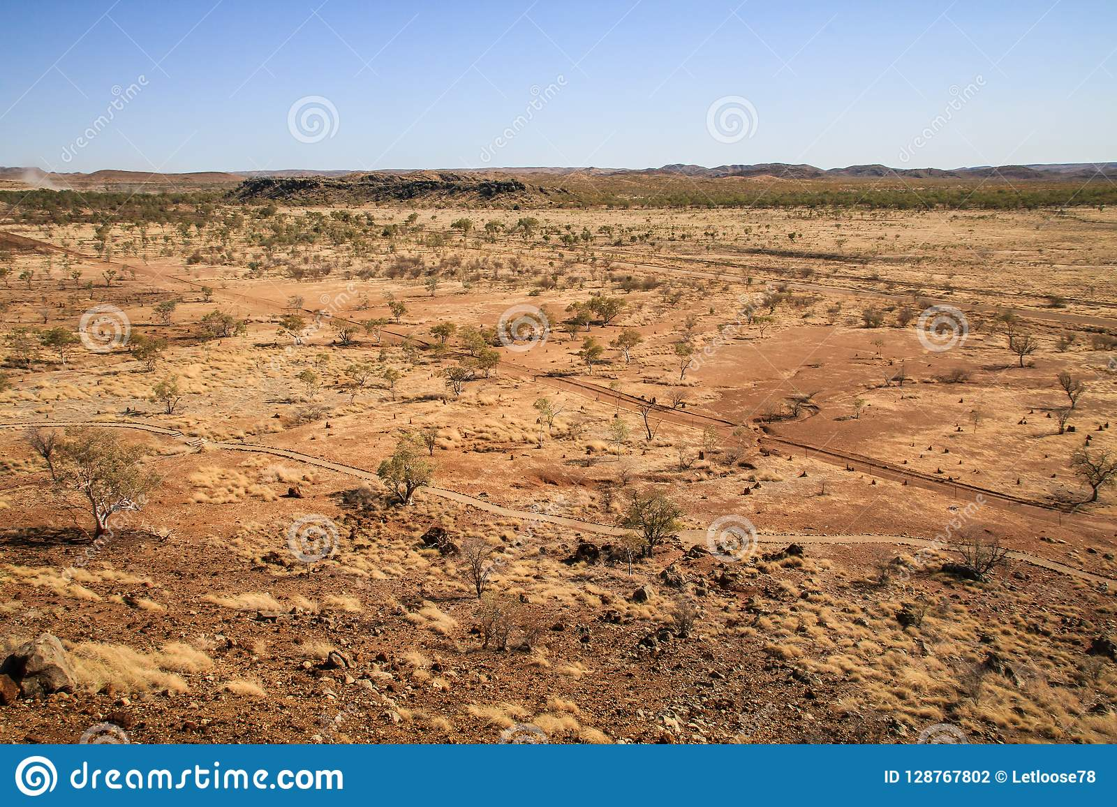 View on the desert from Riversleigh Fossil Site, Savannah Way, Queensland, Australia