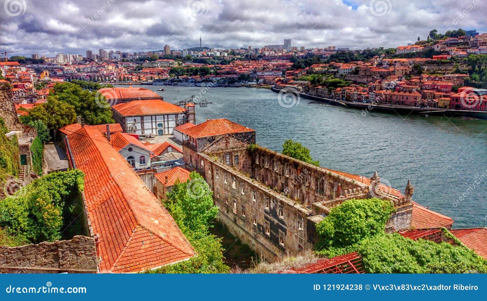 View on Douro River in Porto