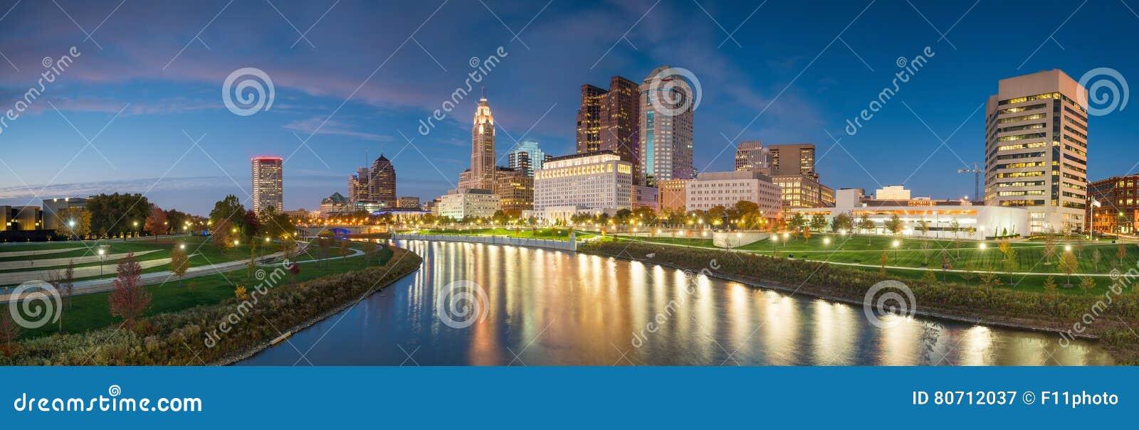 View of downtown Columbus Ohio Skyline