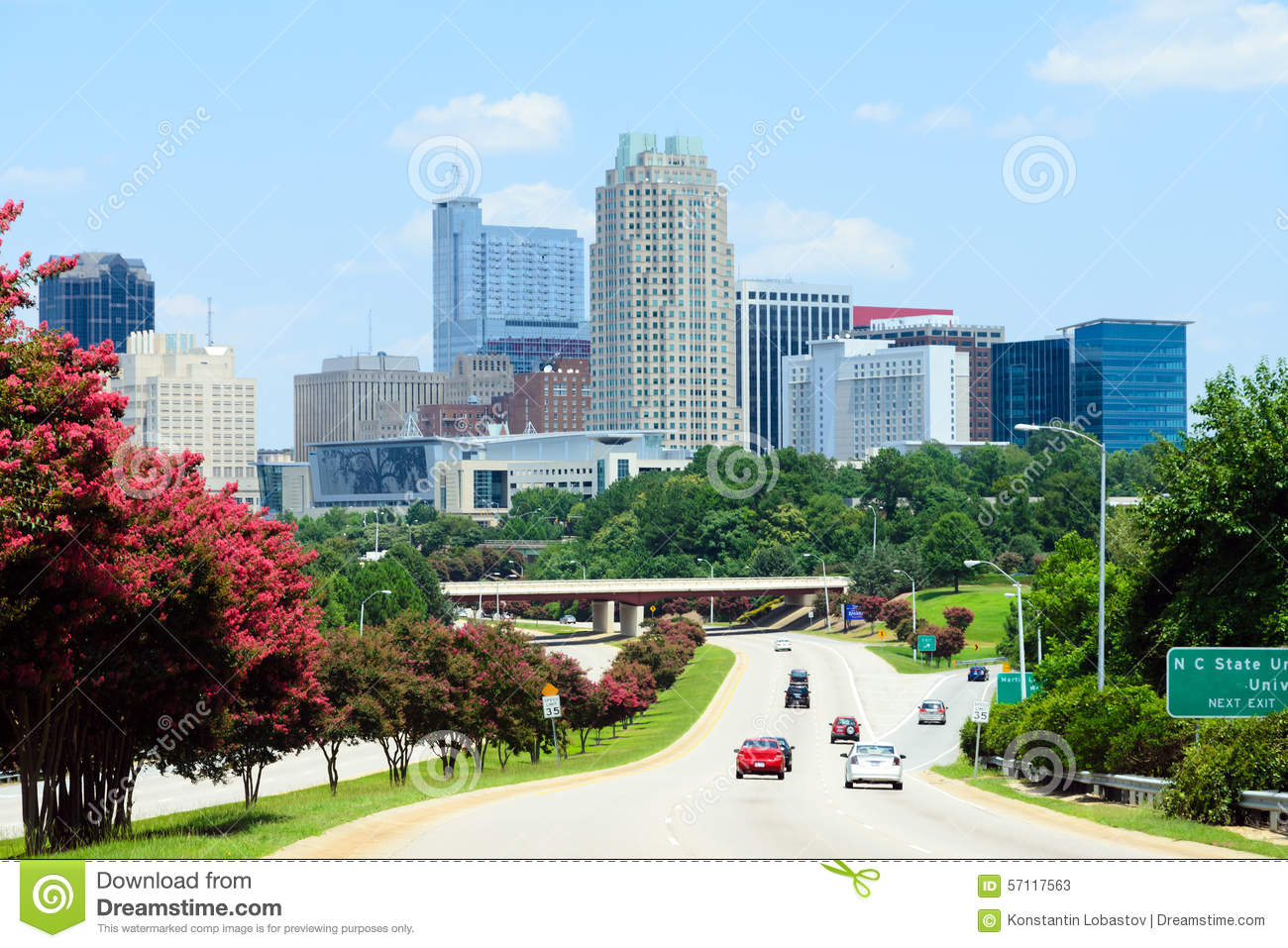 View On Downtown Raleigh Nc Stock Image Image Of