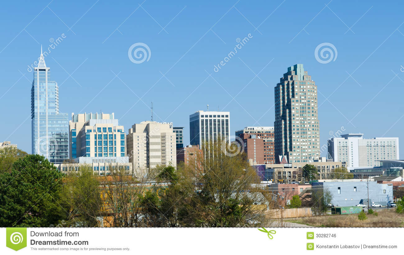 View On Downtown Raleigh, North Carolina. USA. Royalty Free Stock ...
