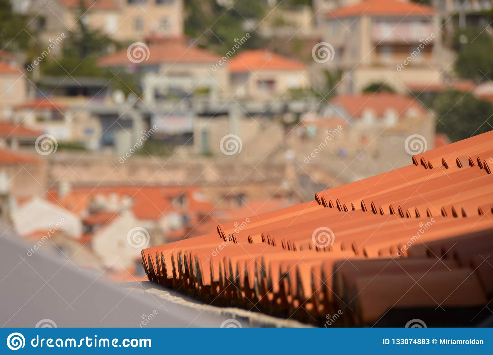 View of Dubrovnik roof