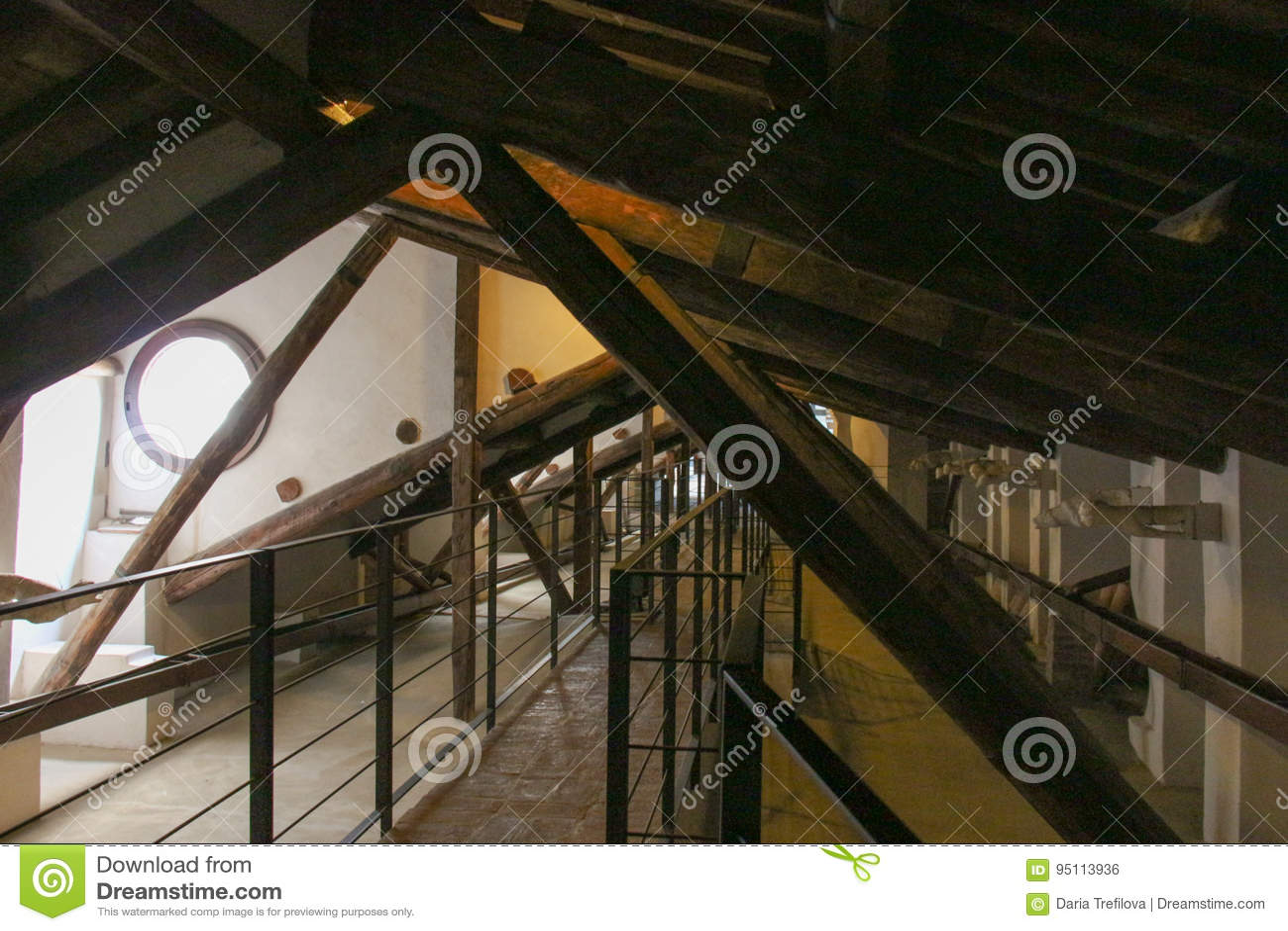 View of the Duomo di Siena attic. Metropolitan Cathedral of Santa Maria Assunta. Tuscany. Italy.