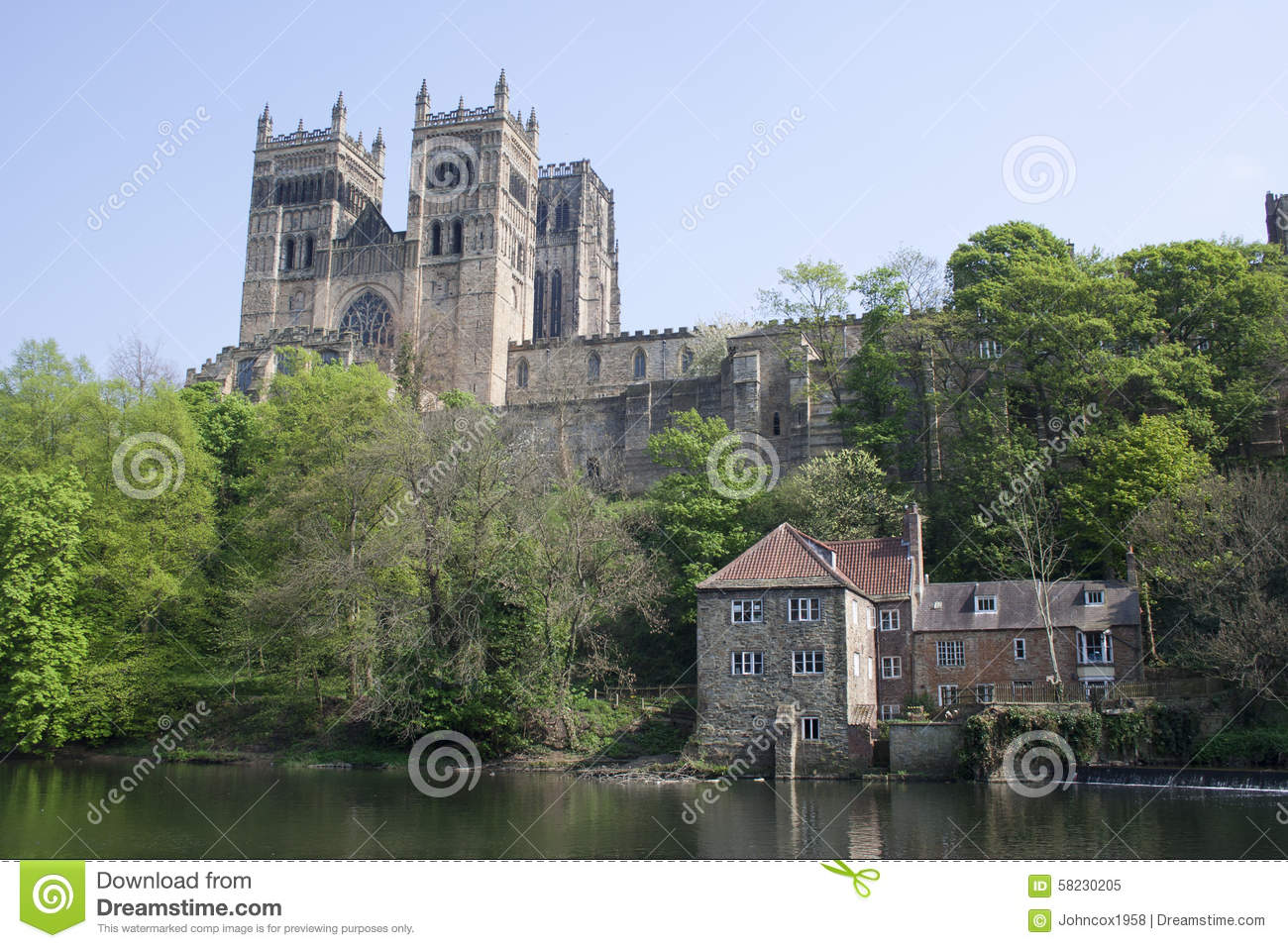 View Of Durham Cathedral Stock Image Image Of View 58230205