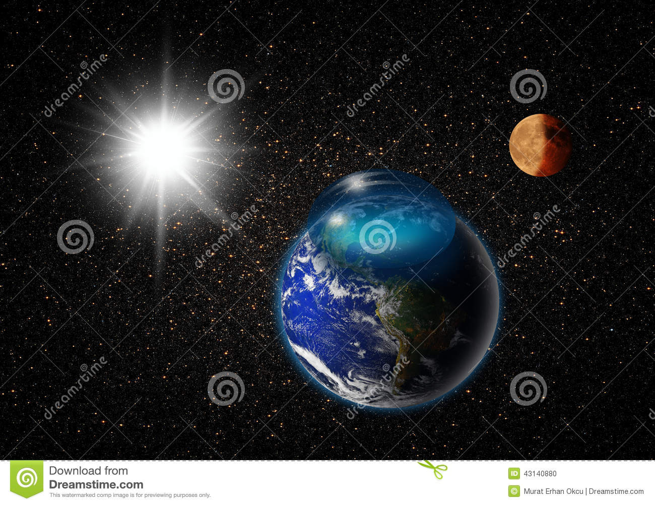 View of earth stock illustration image of abstract for Outer space elements