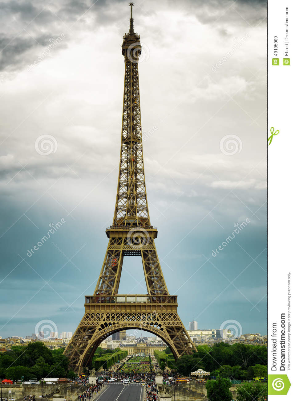 The View Of The Eiffel Tower Paris France Stock Photo Image 49195009