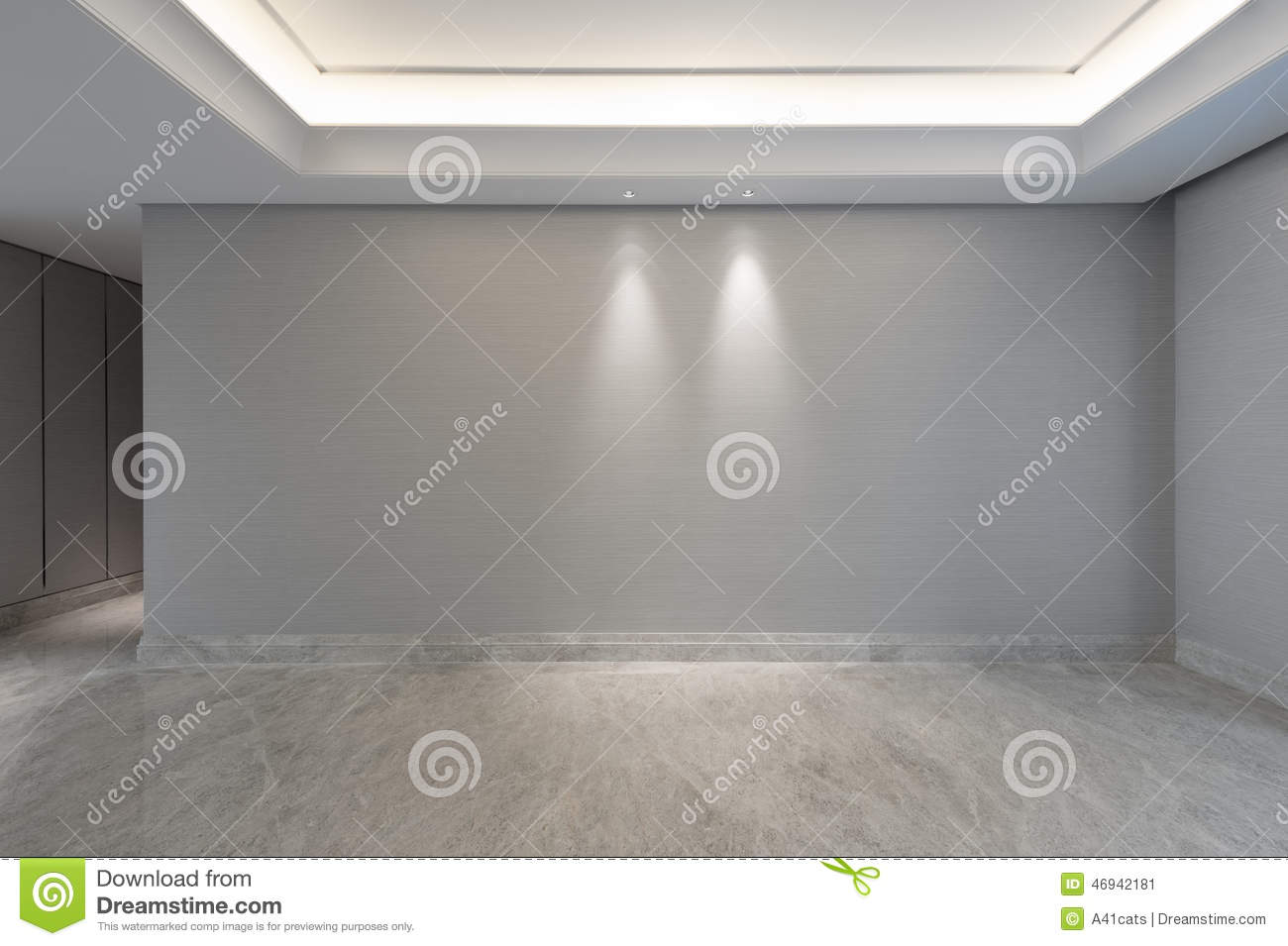 Empty living room with large windows can be as background stock - View Into An Empty Living Room Stock Image