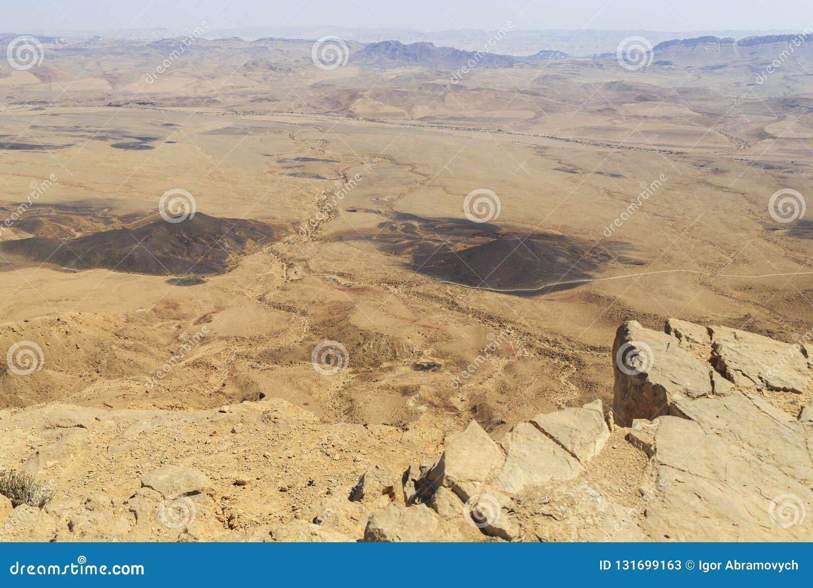 Crater Ramon in the Negev desert, Israel