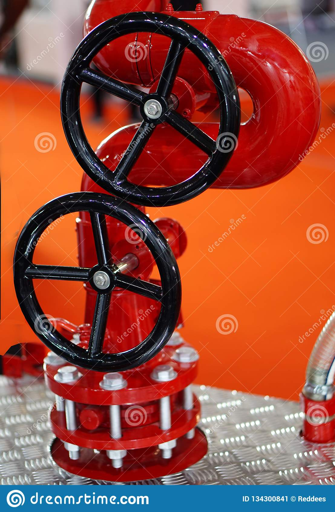 View of fire protection equipment valve in an industry