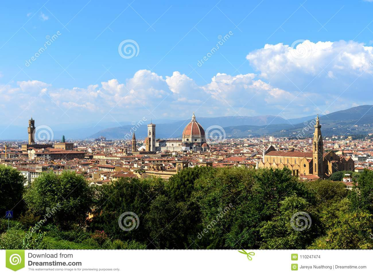 Italian Florence: View Of Florence From Piazzale Michelangelo, Florence