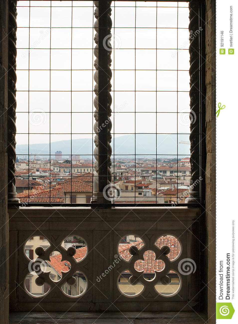View Through The Florence Window Stock Photo - Image of church