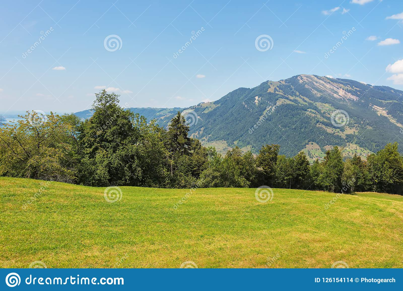 view from the foot of mt rigi in switzerland stock photo image of